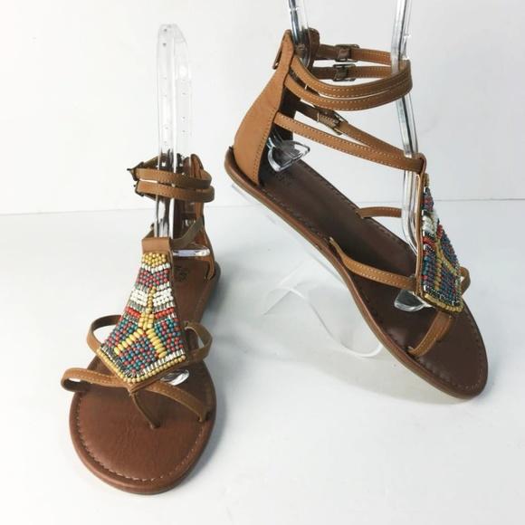 0972c1d299a MUDD Gladiator Beaded Flat Sandals. M 5a569952daa8f61bb20010cc